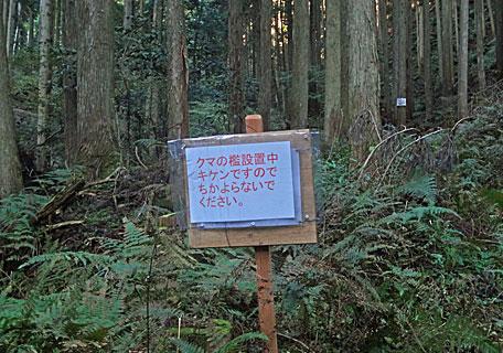 クマの檻注意