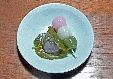 桜餅と花見団子