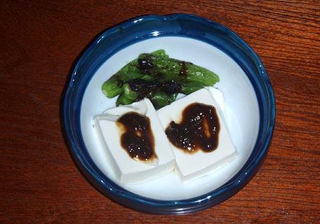 豆腐とししとう