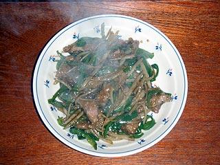 青椒猪肉絲